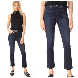 •Rag & Bone• Hana High Rise Raw Hem Jeans